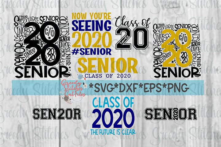 Class of 2020 SVG Bundle | SVG DXF EPS PNG