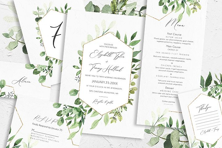 Greenery Foliage Wedding Suite