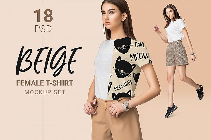 Female T-shirt Mockups & Free Demo