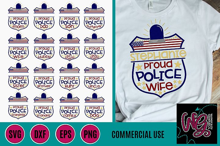 Police Family Name Bundle SVG DXF PNG EPS Commercial