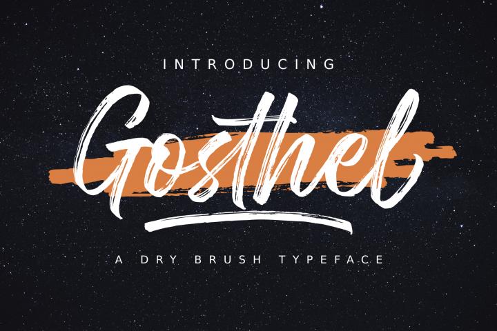 Gosthel - Dry Brush Font
