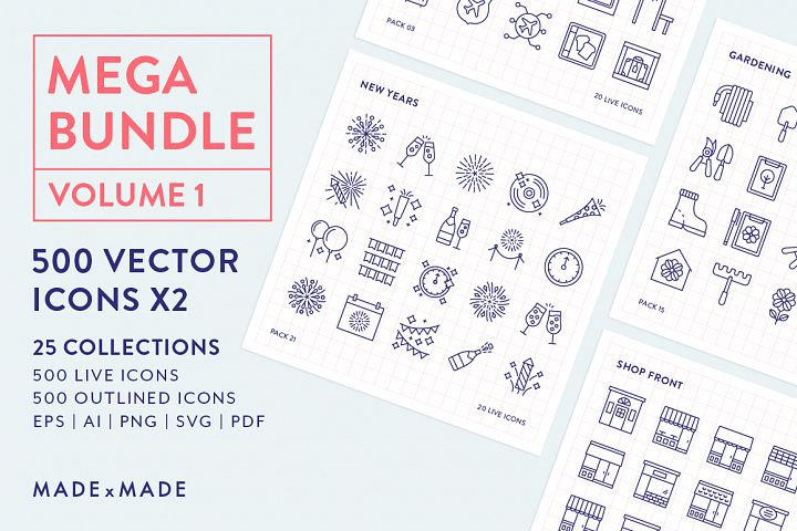 Line Icons – Mega Bundle Vol 1