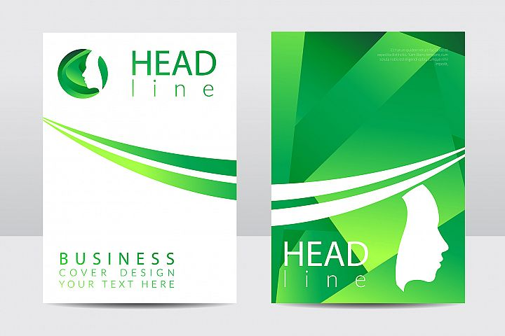 Business cover design. Green