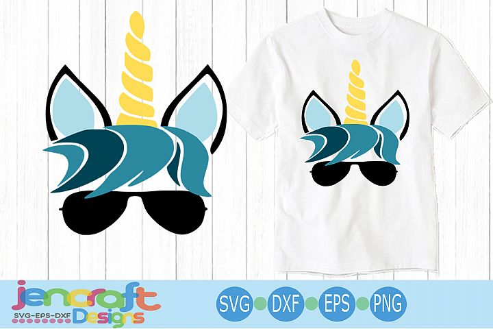 Cool Boy Unicorn svg, eps, dxf