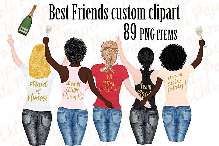 Girl best friend clipart, Bachelorette party girls clipart