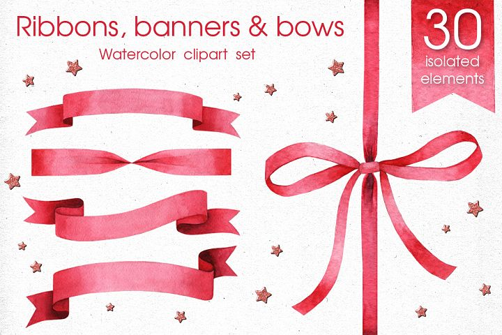 Ribbons, Banners & Bows set