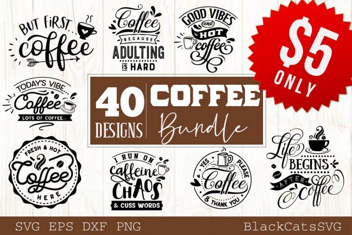 Coffee SVG bundle 40 designs Coffee SVG bundle