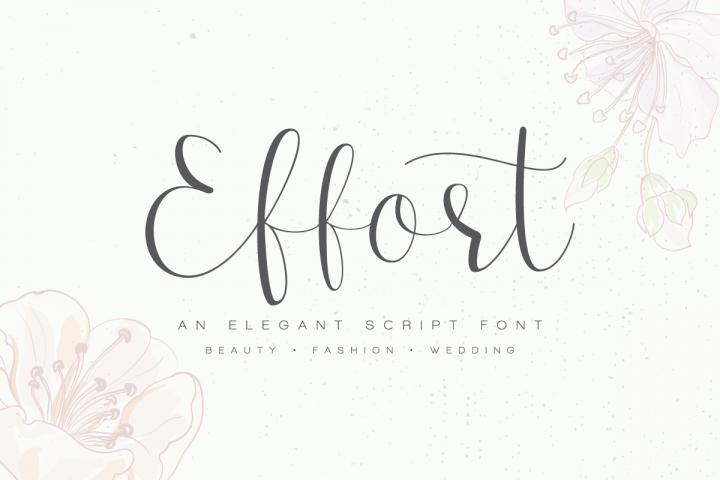 Effort Calligraphy Font