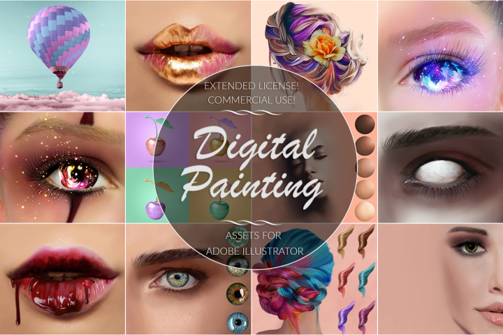 Digital Painting Bundle for Illustrator
