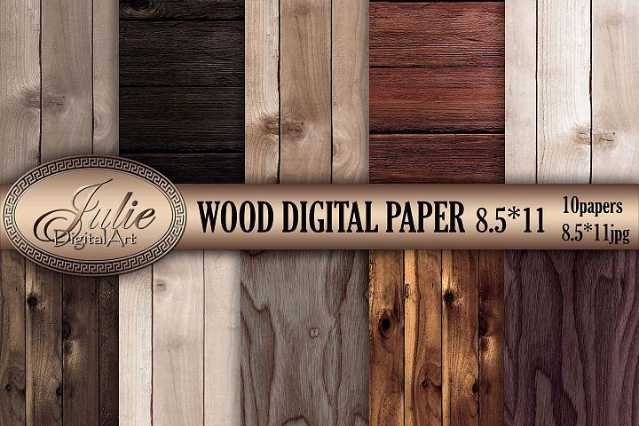Wood digital paper 8. 5 x 11 Natural wood background