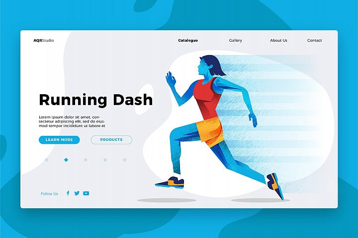 Running - Banner & Landing Page