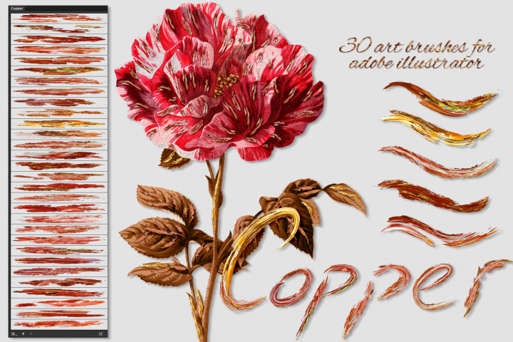 Copper Brushes for Illustrator