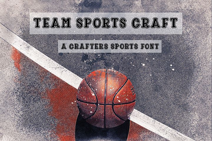 Team Sports Craft Font