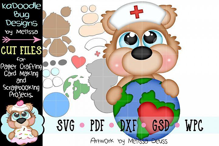 World Nurse Bear Cut File - SVG PDF DXF GSD WPC