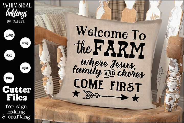 Jesus Family Chores-Farm SVG