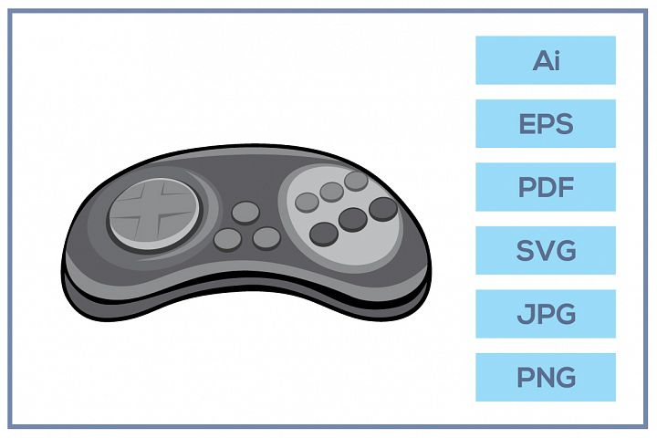 Vector of Classic sega stick controller game console design