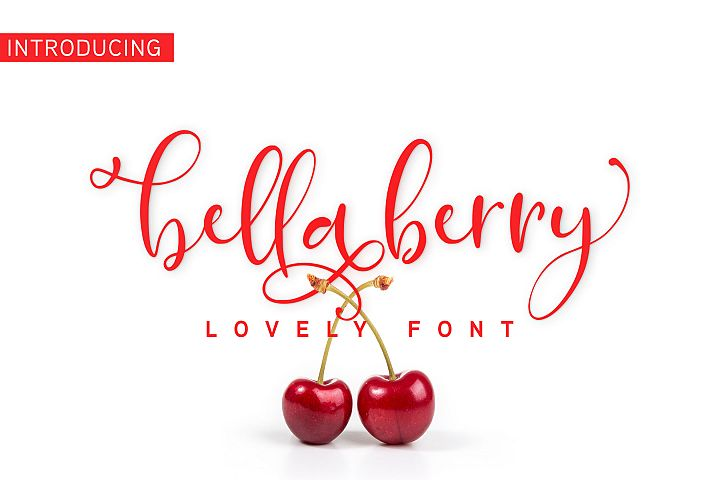 BellaBerry Lovely Script Font