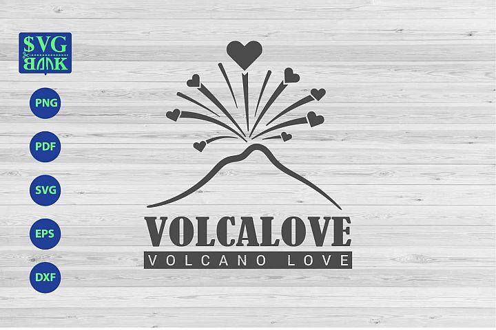 Volcano artwork svg, volcano love cut file
