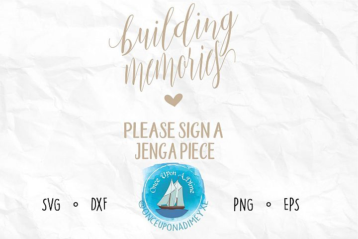 Building Memories - Wedding Jenga Guestbook