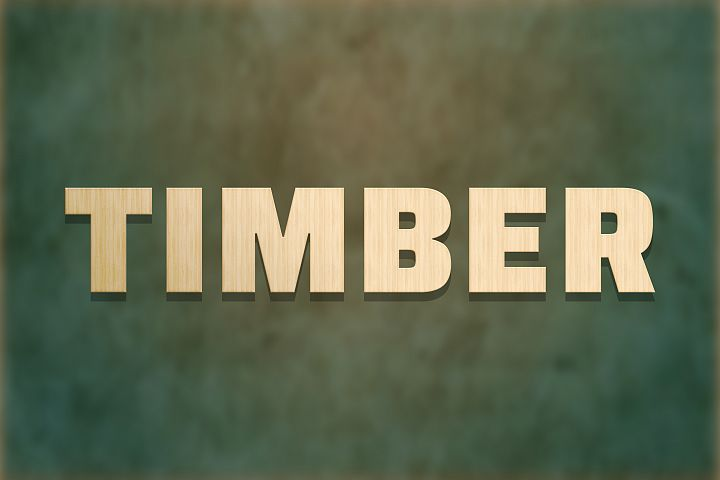Timber Editable Photoshop Text Style Effect