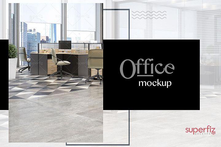 Blank Floor Commercial PSD Mockup SM79