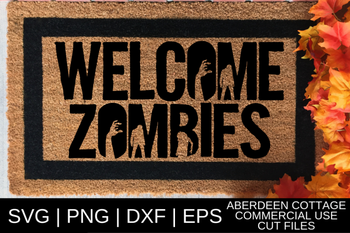 Welcome Zombies SVG