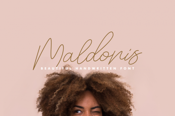 Maldonis Monoline Script