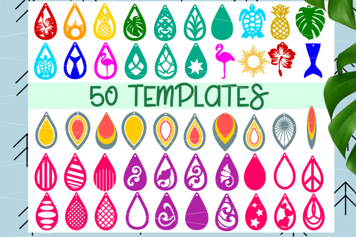 Earrings MEGA BUNDLE 50 pc SVG