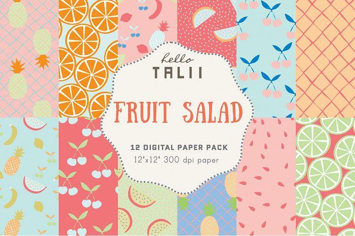 Fruit Salad Digital Paper