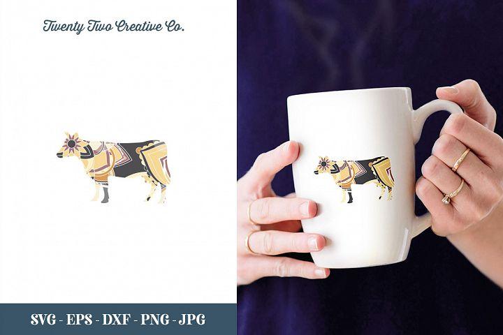 Cow Zentangle Design - SVG, DXF, PNG, EPS, JPG