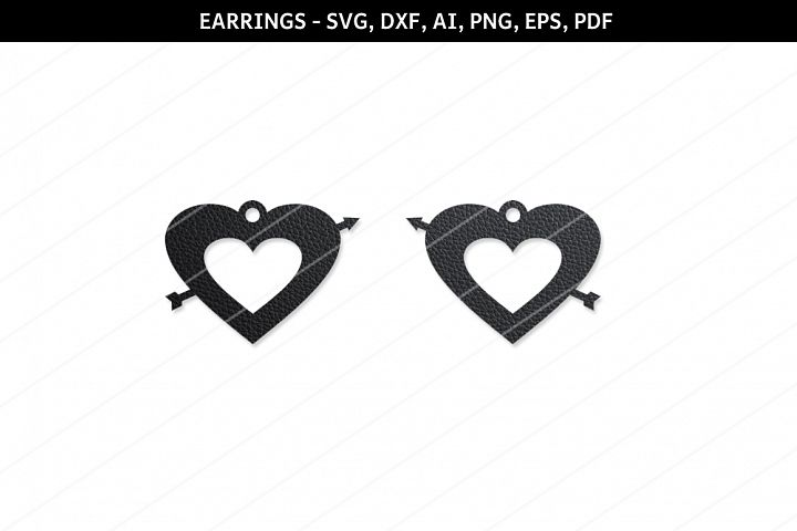 Heart earring svg,Love locket,Cricut files,SVG cutting files