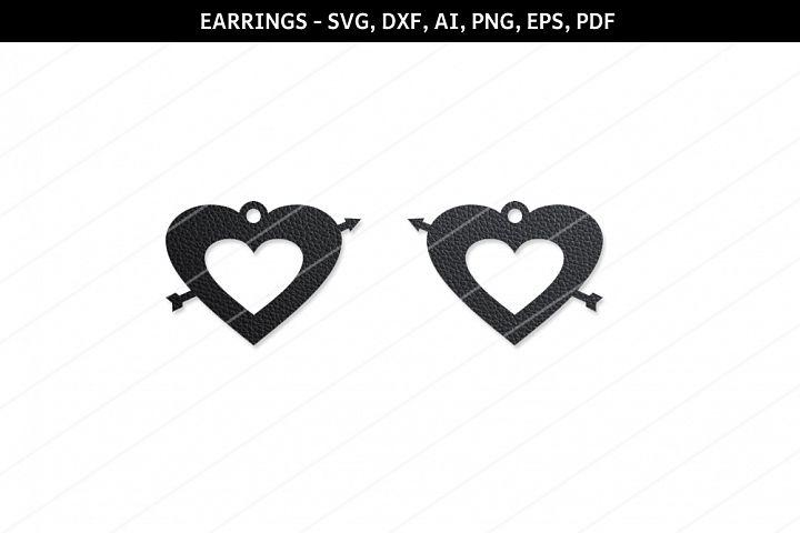 Heart earring svg,Love locket,Cricut files,SVG cutting files