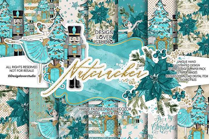 Nutcracker digital paper pack