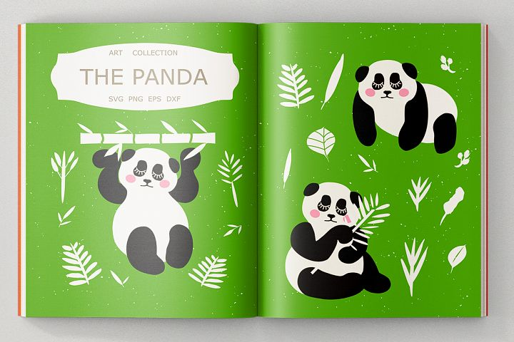Panda Bundle SVG DXF EPS PNG