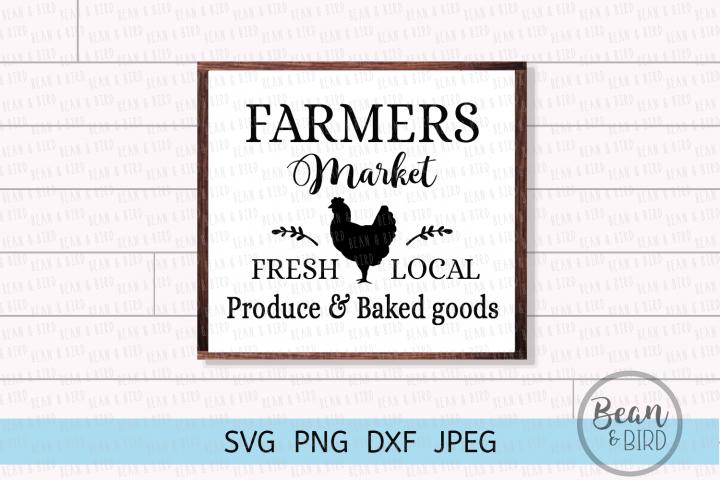 Local Market Farmhouse Cut File Svg