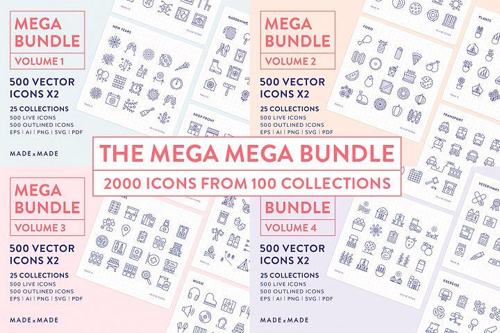 Line Icons - Mega Bundle Vol 1-4 (25% off)