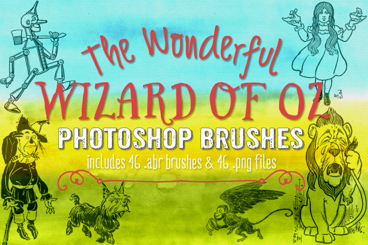 Wizard of Oz Photoshop Brushes and png Clipart Elements