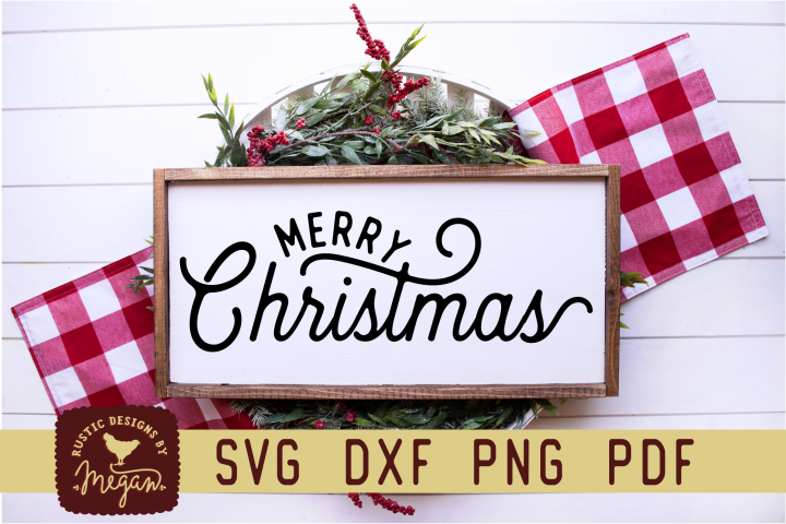 Merry Christmas SVG DXF Cut File