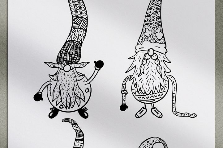 Ten Gnomes SVG Cut Files example image 4