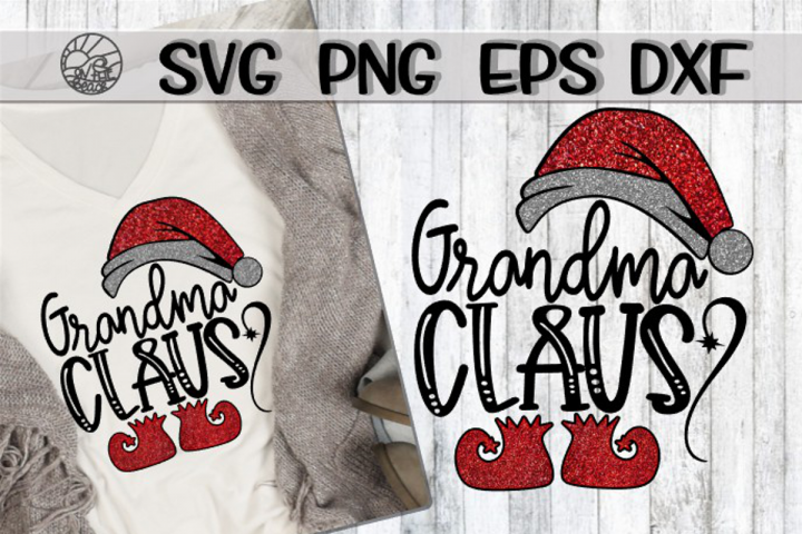 Grandma Claus - SVG PNG EPS DXF