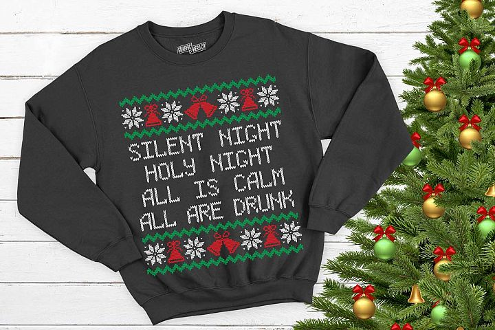 Silent night All is Drunk Christmas Printable