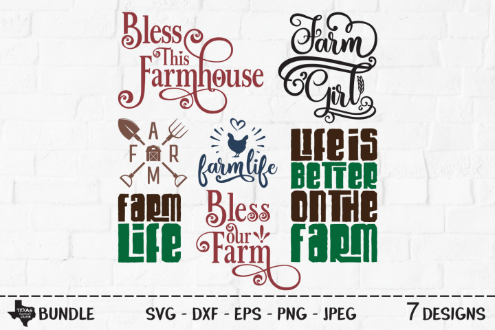 Farm Bundle SVG, Cut Files, Farming Shirt Designs