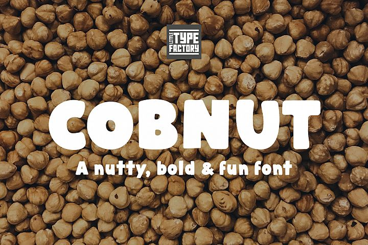 Cobnut - a nutty, bold and fun font example image 1