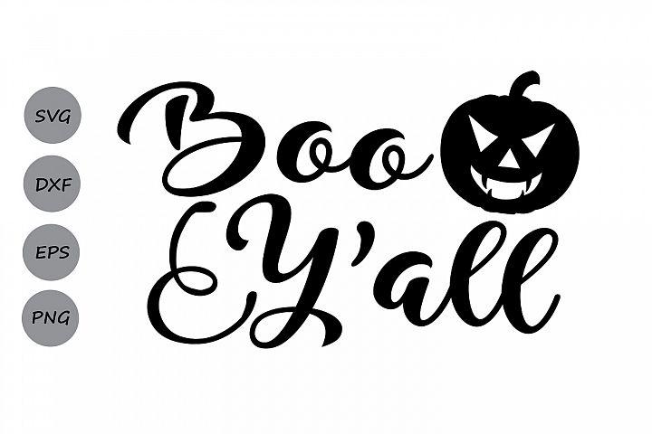 Boo yall svg, Halloween svg, Pumpkin svg, Halloween shirt.