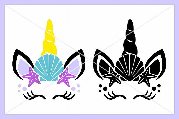 Unicorn Mermaid SVG, Eyelashes, Silhouette Cameo, Cricut