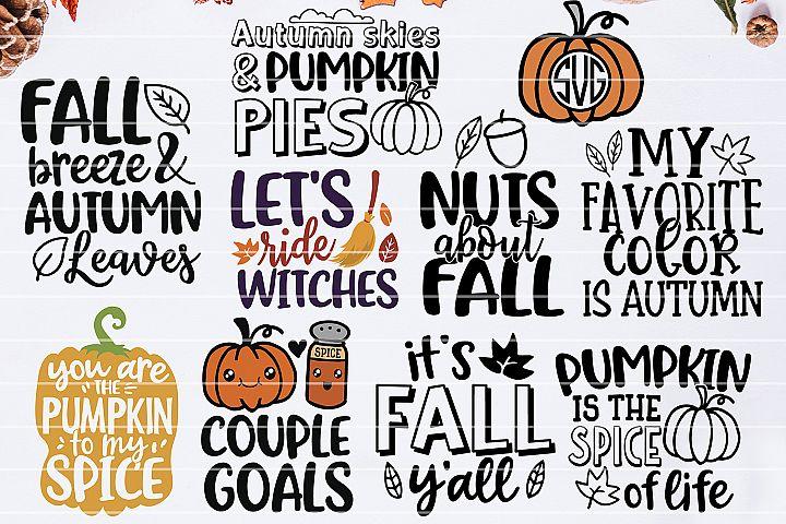 Fall Bundle SVG, Autumn SVG Bundle, Fall Quotes Bundle SVG