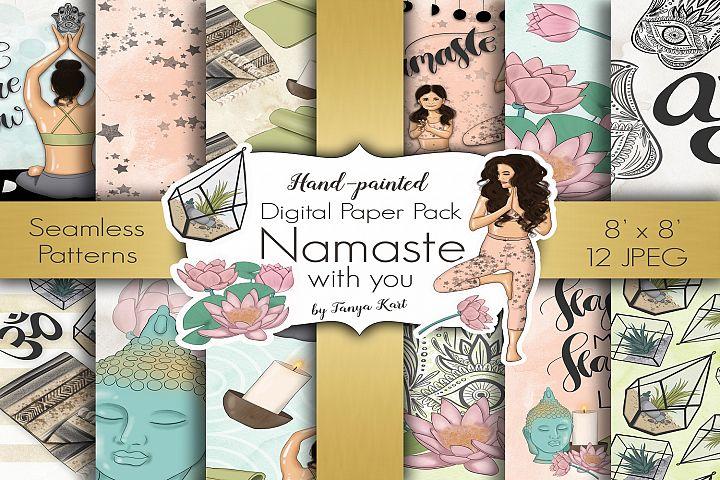 Namaste Digital Paper Pack