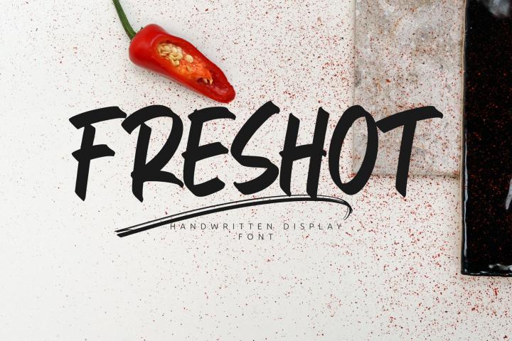 FresHot - Handwritten Display Font