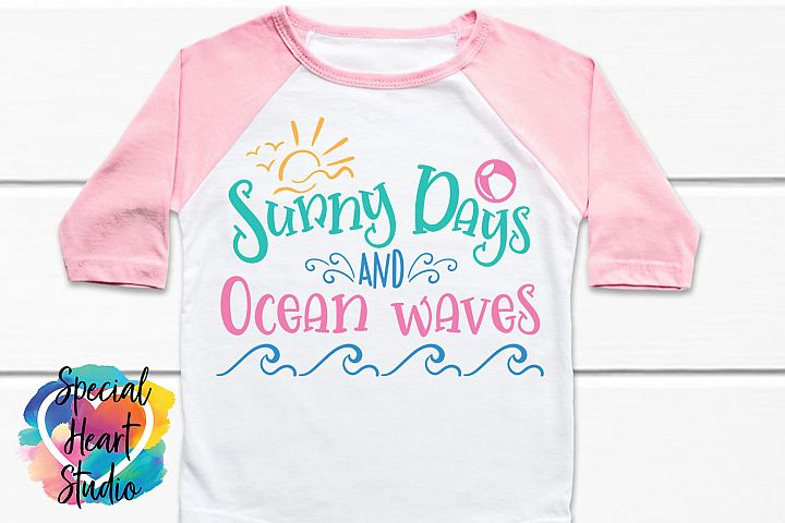 Sunny Days and Ocean Waves - A cute summer SVG
