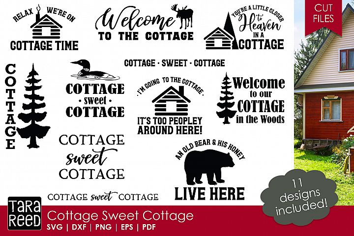 Cottage Sweet Cottage - SVG and Cut Files for Crafters